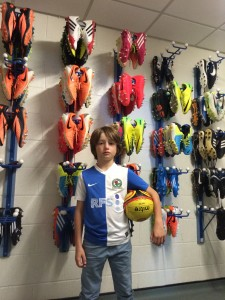 Riley & the great wall of boots!